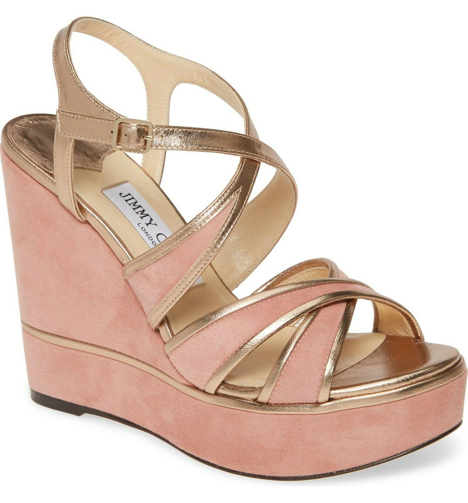 Jimmy Choo Alissa Platform Wedge Sandals Size 37.5 MSRP: $595.00 - $356.40