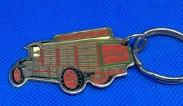 "Fun 3"" Coca-Cola Coke Truck Brass Enameled Keychain 1987 - $6.85"