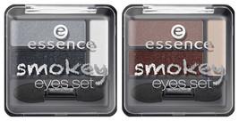 ESSENCE 3 Eyeshadow Palette SMOKEY EYE SET Day Night Nude Naked Neutral - $6.11