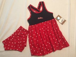 Rivalry Threads Ole Miss Dress Set Girl's  2T Toddler 2pc Mississippi New! - $22.46