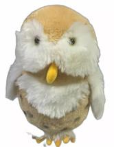 "Rare Sugarloaf Owl 12"" Plush Golden Tan White - $26.19"