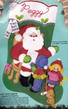 Bucilla A Visit with Santa Kids Puppy Christmas Felt Stocking Kit 82902 R - $35.95