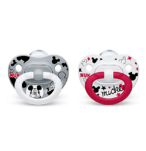 NUK DISNEY BABY MICKEY MOUSE ORTHODONTIC PACIFIERS SET OF 2 -  6-18 MONTHS - $9.99