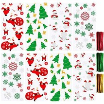 Aneco 200 Pieces Christmas Candy Cookie Bags Christmas Cellophane Snack ... - $11.95