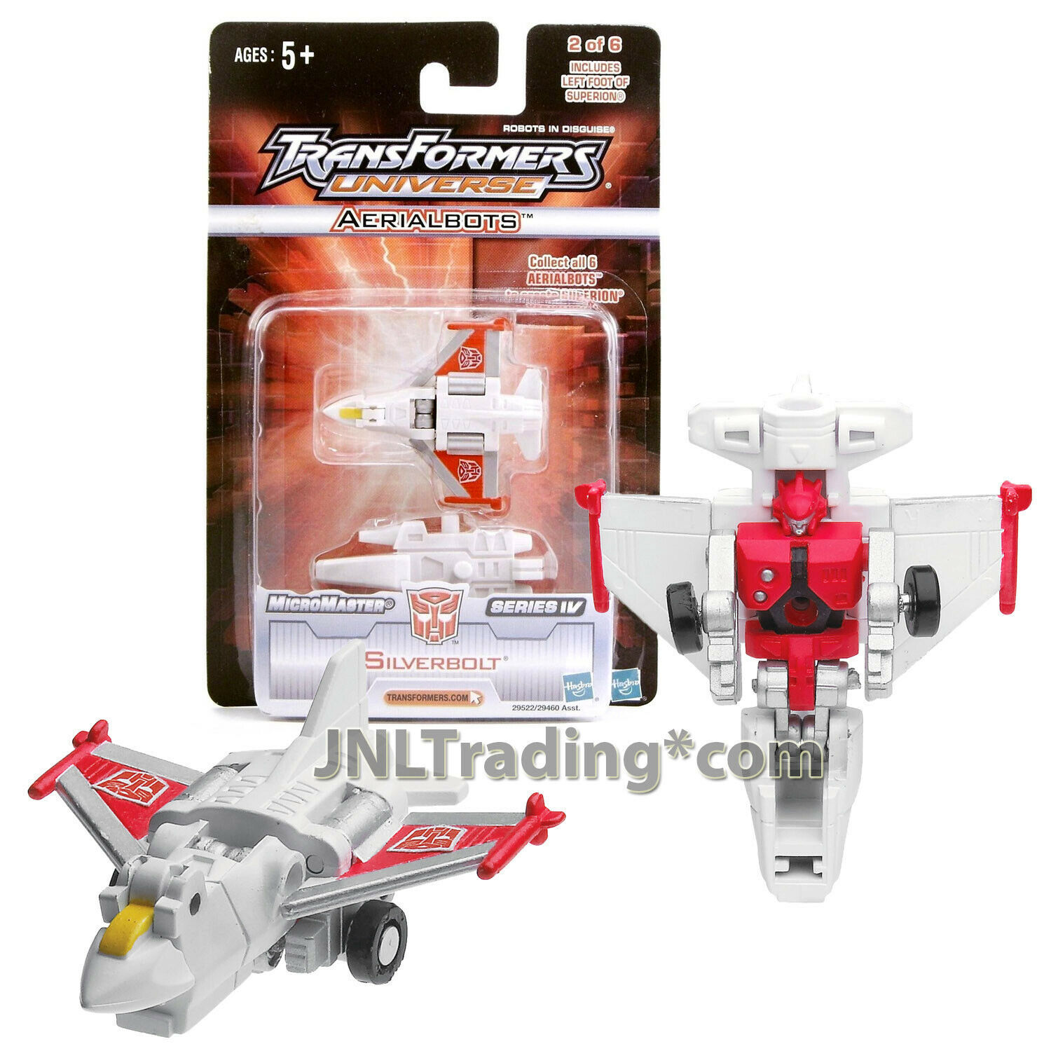 """Year 2005 Hasbro Transformers UNIVERSE MicroMaster IV 2-1/2"""" Figure SILVERBOLT"""