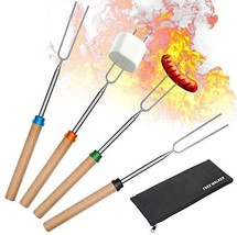 Marshmallow Roasting Smores Sticks,32-inch Extendable Sturdy Stainless S... - $16.00