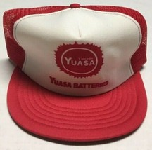 Vtg Yuasa Batteries Trucker Hat Battery Manufacturing Cap Cars Made In T... - $29.69