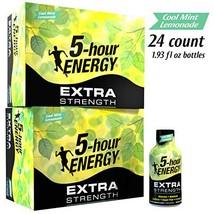 5-hour ENERGY Shot, Extra Strength Cool Mint Lemonade, 1.93 Ounce, 24 Count