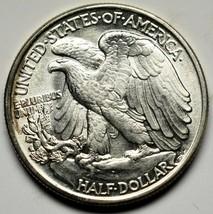1942 Walking Liberty Half Dollar 90% Silver Coin Lot# A 230 image 2