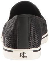 Ralph Lauren Women's Premium Janis Slip-On Athletic Fashion Sneakers Shoes Black image 7