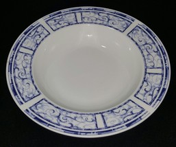 Oneida Stoneware China 1999 Breton Blue 8 5/8 Rim Soup Cereal Bowl (2 Available) - $2.99
