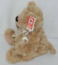 GANZ Brand HX11089 Light Brown Color Soft and Cuddly Hayden Plush Bear With Bow image 4