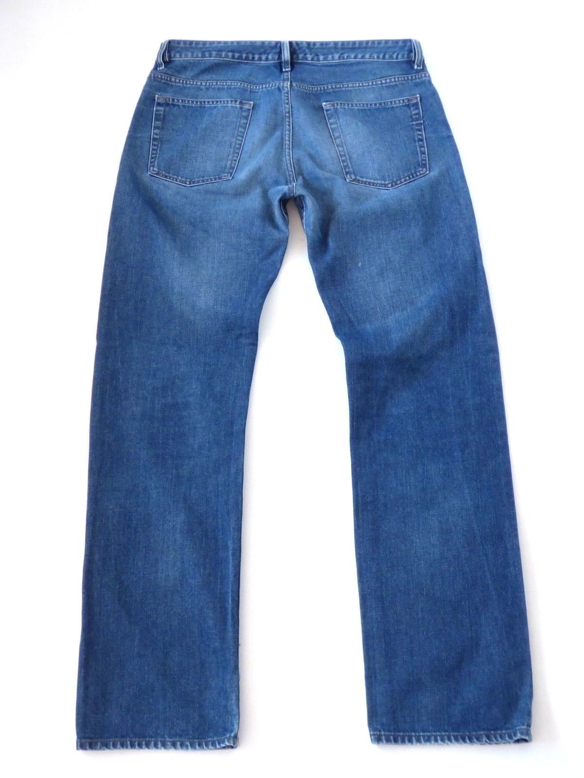 059e90b4 Men's Vintage Rare DIESEL RABOX 80P Button Fly Straight Blue Denim Jeans  W35 L34