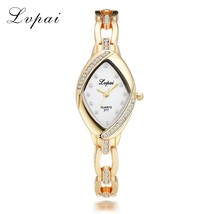 Lvpai® Women Watch Luxury Quartz Ladies Gold Bracelet Casual Oval Crysta... - $6.71