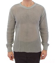Dolce & Gabbana Gray Runway Logo Netz Pullover Netted Sweater - $253.15