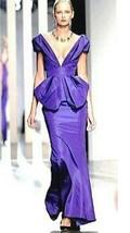 $8K Nwt Stunning Oscar De La Renta Purple Silk Gown Dress Runway Us 6 - $1,995.00