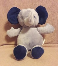 "JUST ONE YOU by CARTERS gray navy blue ELEPHANT beanbag plush baby toy 8"" - $14.01"