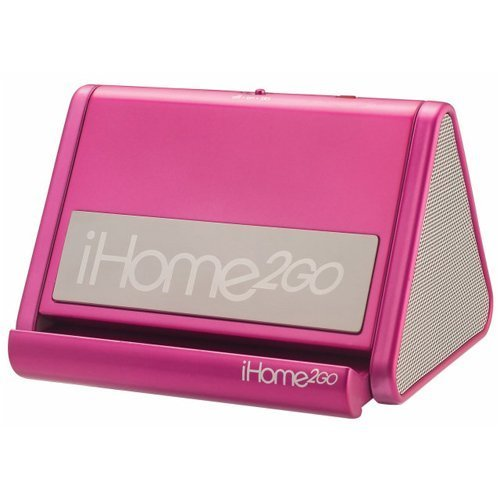 iHome iHM3 Portable Speaker System for iPod and MP3 Players (Pink)