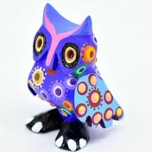 Handmade Alebrijes Oaxacan Copal Wood Carving Painted Owl Bird Figurine image 2