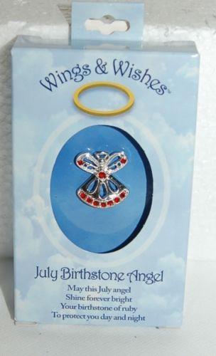 DM Merchandising Wings Wishes WGW07 July Birthstone Angel