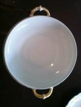 Haviland Limoges 2 Handled Serving Bowl Gold Trim Shows Wear - $43.36