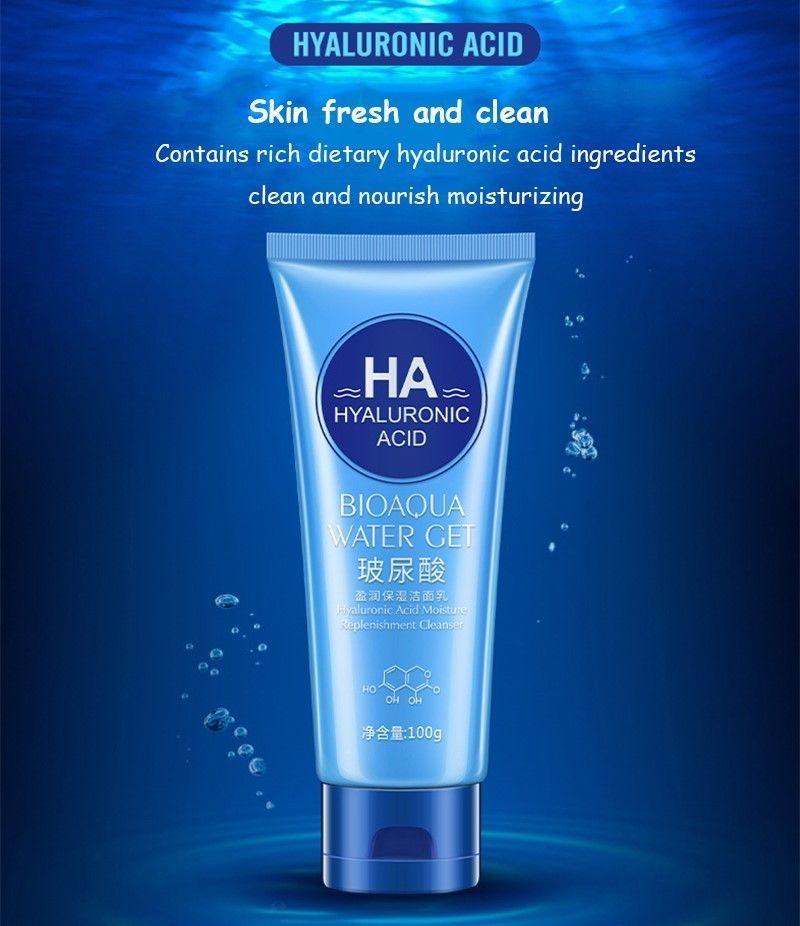 Face Care Cleanser Facial Massager Wrinkles Acne Moisture Skin Hyaluronic Acid