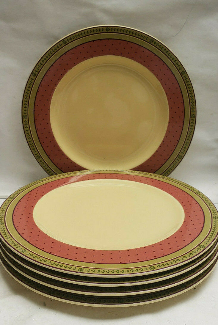 FIVE (5) WAVERLY China, Garden Room Line - FLORAL MANOR Pattern - DINNER PLATES - $59.95