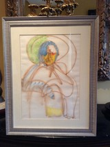 Unknown Original Framed Painting Signed by The Artist, Paris 1986 - $119.00