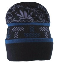 LRG Lifted Research Group Black Mushroom Weed Alpine Devine Beanie Winter Hat NW