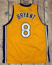 KOBE BRYANT SIGNED PRO STYLE CUSTOM YELLOW JERSEY PSA/DNA AUTHENTICATED - $395.01