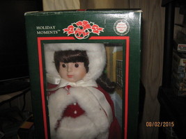 Vintage 1980s Holiday Moments Doll genuine porcelain 16 inch doll-FREE S... - $25.00