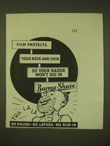 1931 Burma-Shave Shaving Cream Ad - Film protects your neck and chin - $14.99