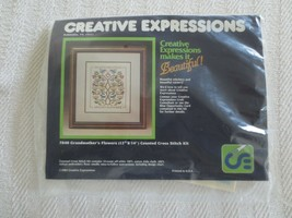 1984 Creative Expressions GRANDMOTHER'S FLOWERS Cross Stitch SEALED Kit ... - $8.00