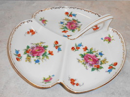 "Noritake Hand Painted Japan Dresdlina Serving Dish w/HANDLE 9"" Across - $19.80"
