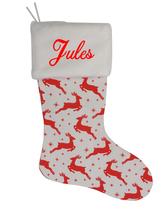 Jules Custom Christmas Stocking Personalized Burlap Christmas Decoration - $17.99