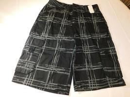 Skull Boards Boy's Youth Casual Shorts Cargo Short Black Grey Size 16 NWT - $18.91