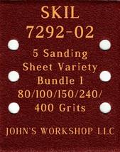 SKIL 7292-02 - 80/100/150/240/400 Grits - 5 Sandpaper Variety Bundle I - $7.53