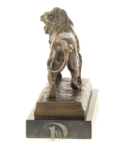 Antique Home Decor Bronze Sculpture shows a Lion signed * Free Air Shipping  - $299.00