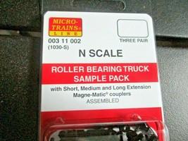 Micro-Trains Stock # 00311002 Roller Bearing Truck Sample Pack Short, Med, Long  image 2