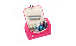 Hanging Toiletry Bag for Travel Accessories & Makeup - Purple