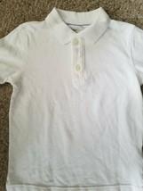 GAP KIDS White Short Sleeved Polo Shirt Boys Size 6-7 image 2