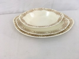 Taylor Smith Taylor Vtg USA Made Set of 3 Serving Platters Bowl - $28.71
