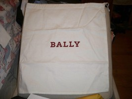 "BALLY Switzerland Ivory Dust Bag Handbag Purse Shoes Boots Loafers 16""L ... - $7.81"