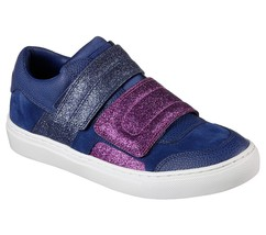 New Womens Glitter Shoes Fashion Casual Sneakers 7.5 Blue Purple Velcro ... - $69.75