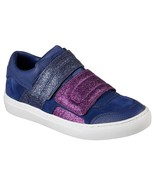 New Womens Glitter Shoes Fashion Casual Sneakers 7.5 Blue Purple Velcro ... - $155.00