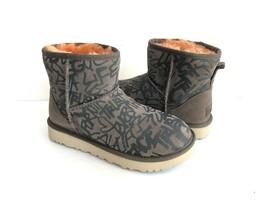 Ugg Classic Street Graffiti Mini Slate Water Reistant Boot Us 8 / Eu 39 / Uk 6 - $126.23
