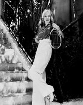 Ginger Rogers Pants Outfit With Tennis Racket On Steps 16X20 Canvas Giclee - $69.99