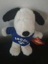 "Daisy Hill Puppies Snoopy Plush Stuffed Animal Blue Shirt 10"" Tall Soft - $18.86"