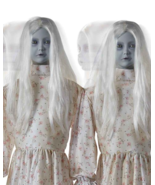 Halloween Ghost Girl Sisters 4.5 Ft Double Trouble Animatronics - $494.01