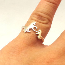 Handmade 925 Sterling Silver Mother Daugther Horses Ring - $42.00